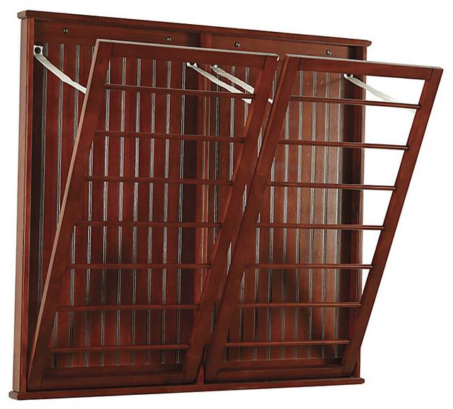 ballard designs brown beadboard drying rack hanging rail