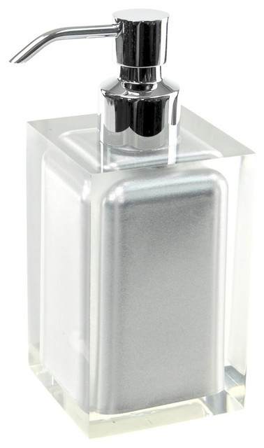 Countertop Accessories : Countertop Soap Dispenser, Silver - Modern - Bathroom Accessories ...