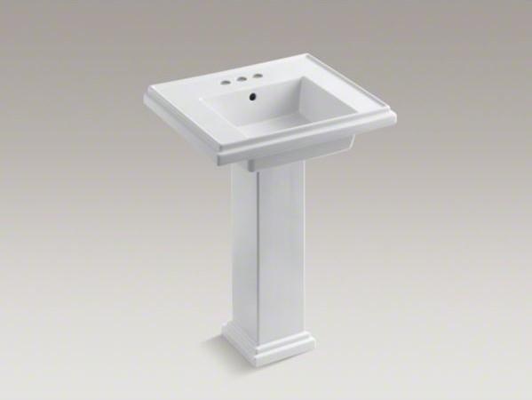 "KOHLER Tresham(R) 24"" pedestal bathroom sink with 4 ..."