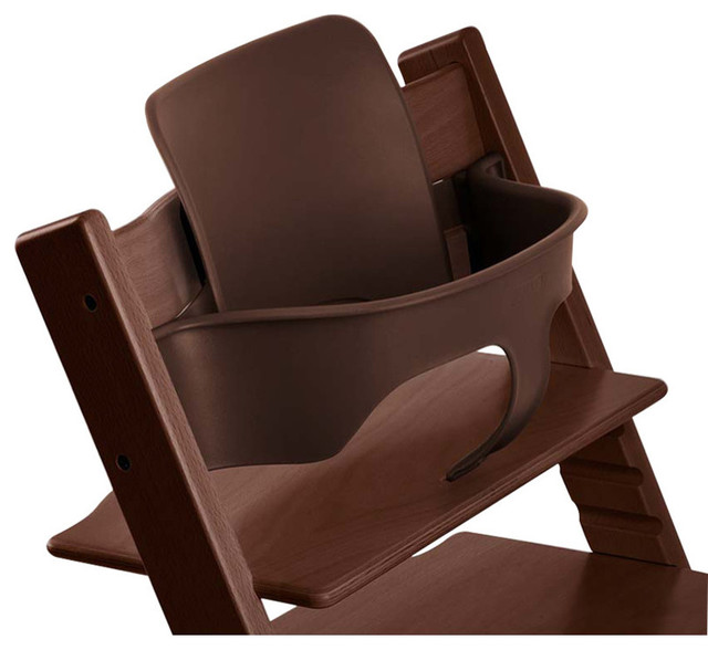 Stokke Tripp Trapp Baby Set, Walnut Brown - Contemporary - High Chairs And Booster Seats - by ...