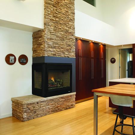 Superior drt40cr l direct vent corner gas fireplace for Indoor corner fireplace