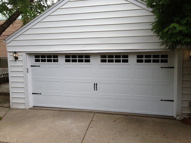 Carriage House Garage Doors - Traditional - Shed - detroit ...