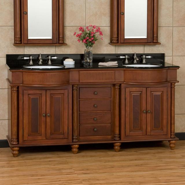 72 george washington brown cherry double vanity for Bathroom vanities washington ave philadelphia