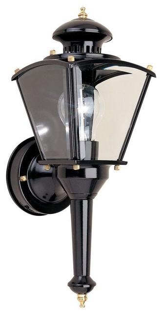 Hampton Bay Wall Mounted 220 Degree Outdoor Motion Sensing Wall Lamp Contemporary Outdoor