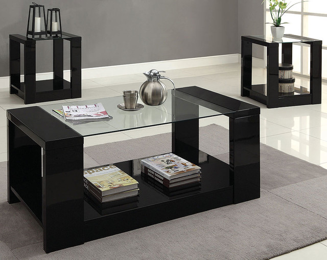 Mason 3 piece table set modern living room columbus for 3 piece living room table sets