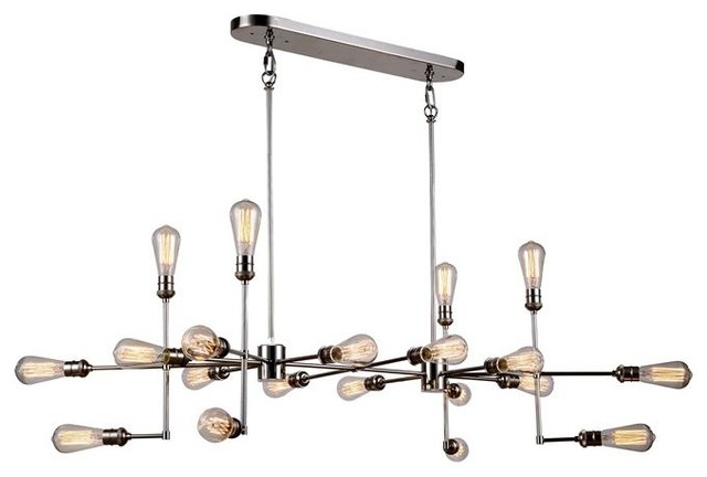 Ophelia Light Chandelier Polished Nickel