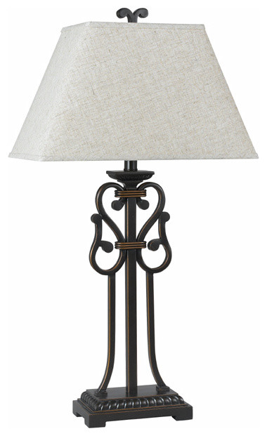 962 150 w 3 way wrought iron swirl table lamp transitional table lamps. Black Bedroom Furniture Sets. Home Design Ideas