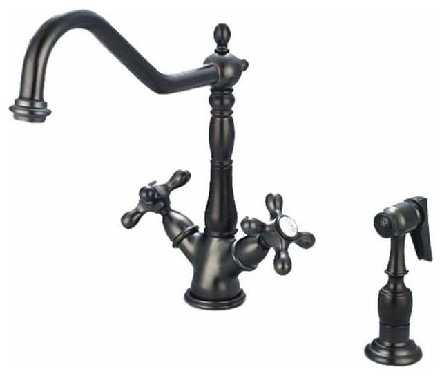 artisan premium 2 handle antique bronze fct traditional pioneer premiumi series single handle kitchen faucet ebay