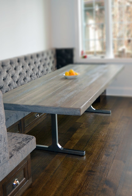 Reclaimed Wood Rustic Grey Modern Dining Table Rustic Chicago By