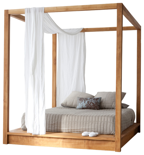 PCH Series Canopy Bed Queen Scandinavian Beds