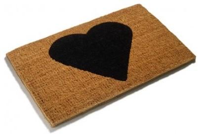 heart love doormat modern door mats by make an entrance