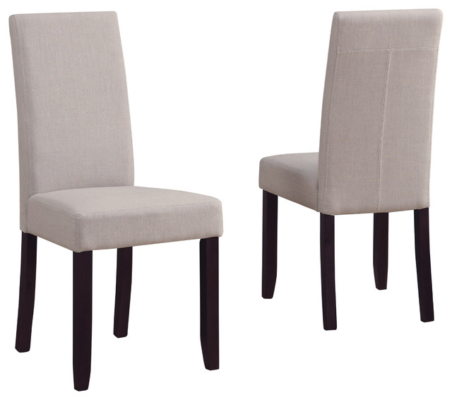 Acadian Parson Dining Chairs Set Of 2 Natural Traditional Dining Chairs