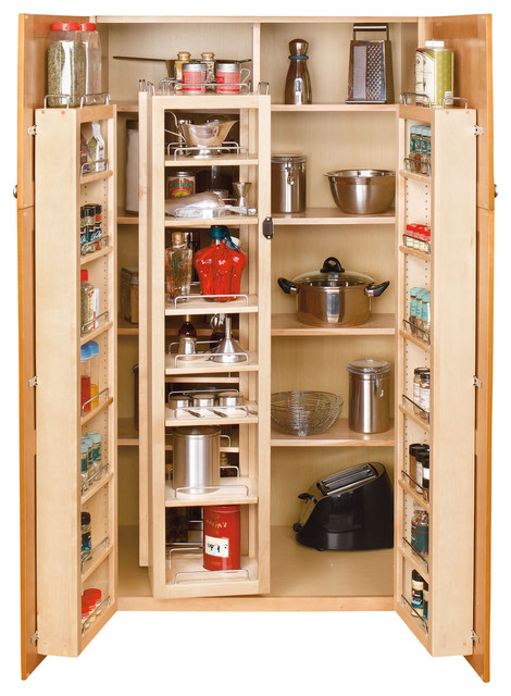 "Rev-A-Shelf, 57"" Swing Out Pantry Kit, Natural - Traditional - Pantry And Cabinet Organizers ..."