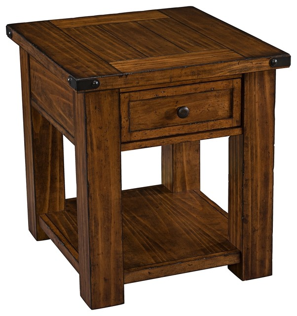 Pinebrook Coffee Table ... Pine Rectangular End Table beach-style-side-tables-and-end-tables