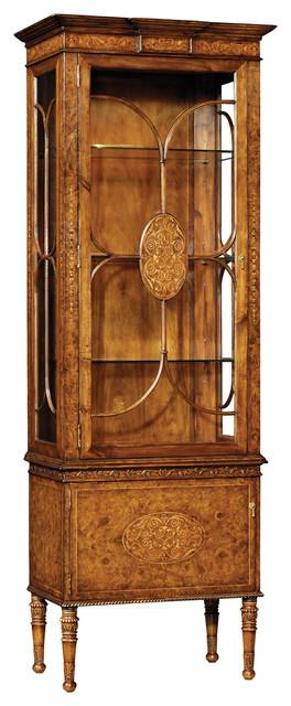 Jonathan Charles Seaweed Narrow Display Cabinet 493719 - Traditional - China Cabinets And ...