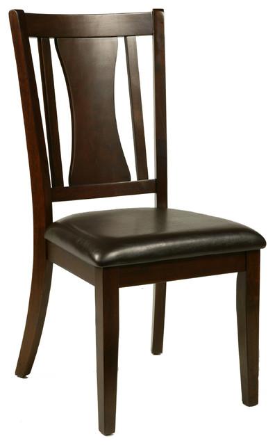 Alpine Bradbury Side Chair With Faux Leather Cushion Set