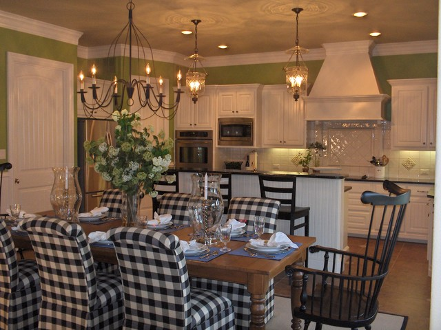 Updated transitional country kitchen traditional for Updating a traditional dining room