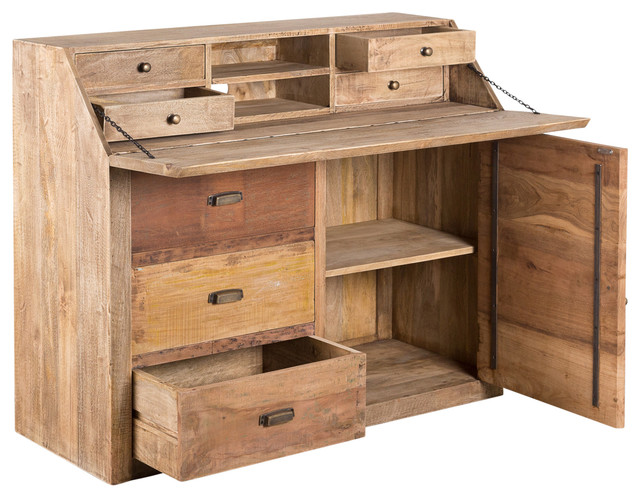 Austin Drop Down Desk Rustic Desks And Hutches by C