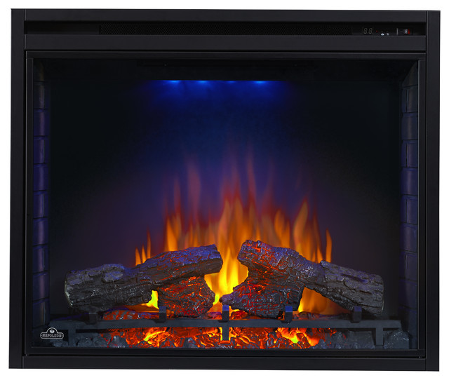 Napoleon 33 Bef33h Ascent Electric Fireplace Insert Contemporary Indoor Fireplaces By