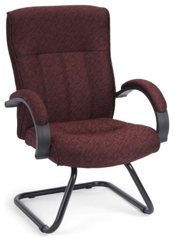 OFM Guest Reception Chair Burgundy Contemporary Office Chairs By Bison