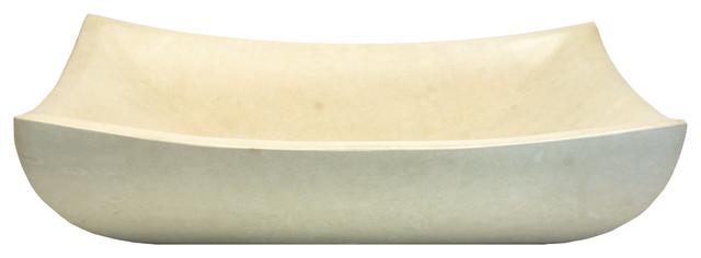 Deep White Sink : Deep Zen Sink - White Limestone - Contemporary - Bathroom Sinks ...