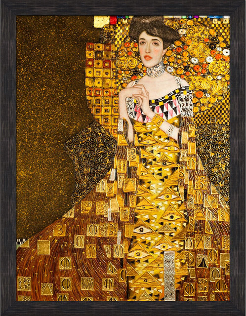 klimt portrait of adele bloch bauer i 1907 luxury line traditional paintings by. Black Bedroom Furniture Sets. Home Design Ideas
