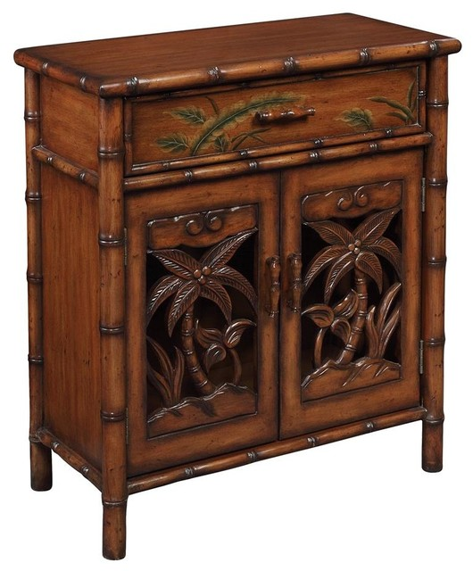 One Drawer Two Door Cabinet - Tropical - Accent Chests And Cabinets - by ShopLadder