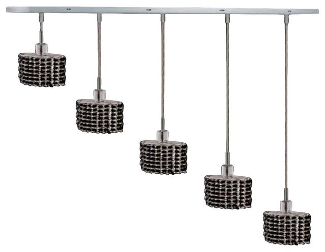 Elegant Lighting 1285D O E JT RC Mini 4 Light Pendants In