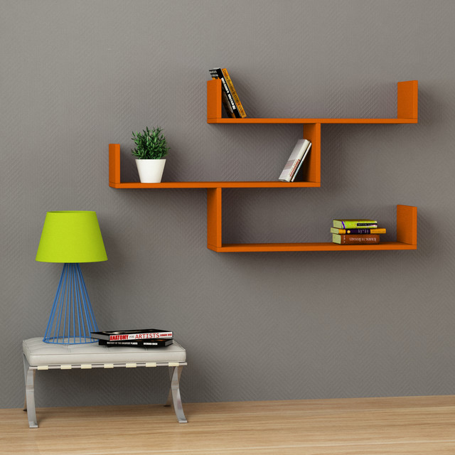 Tibet Wall Shelf - orange - Contemporary - Display And Wall Shelves - Chicago - by Decortie