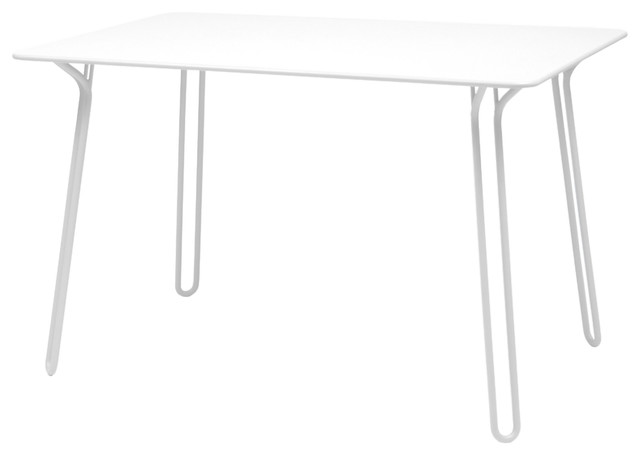 Surprising table l 120 cm moderne table de jardin for Table exterieur metro