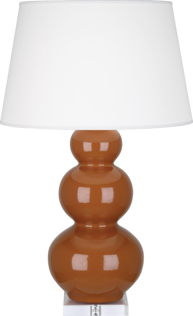 robert abbey triple gourd table lamp cinnamon contemporary table