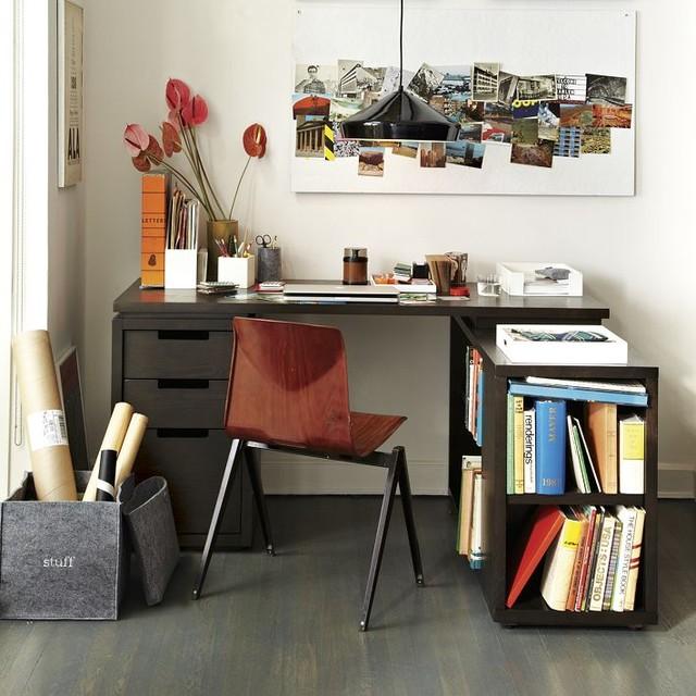 Modular Office L Shaped Desk Set Modern Desks And
