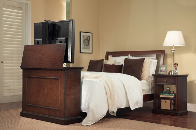 end of bed tv lift cabinets for flat screens 1