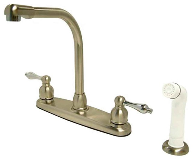 Dual Tone High Arch Kitchen Faucet Traditional Kitchen Faucets By Shopladder