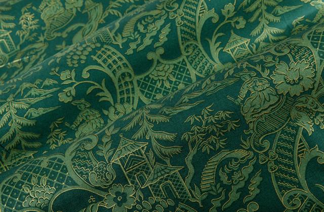 Kanji Fabric in Spruce Green Asian Fabric Los  : asian fabric from www.houzz.com size 640 x 418 jpeg 174kB