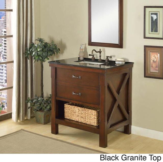 Direct Vanity 32 Inch Espresso Spa Single Vanity Sink Cabinet Contemporary