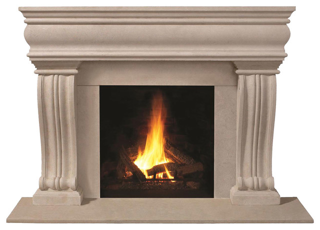 1106536 cast stone mantel transitional fireplace for Cast stone fireplace mantels