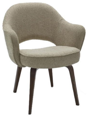 Saarinen arm chair with wood legs modern dining chairs for Wood dining room chairs with arms