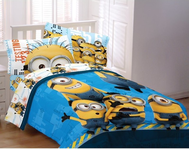 minions testing 1234 twin full comforter multicolor