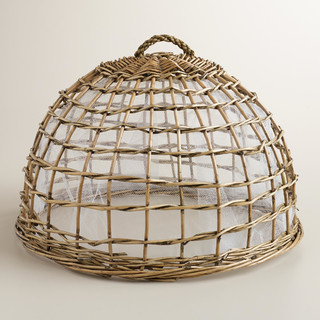 Willow Food Dome - Contemporary - Tabletop - by Cost Plus World Market
