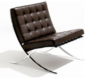 Barcelona Chair In Stainless Steel Modern Armchairs