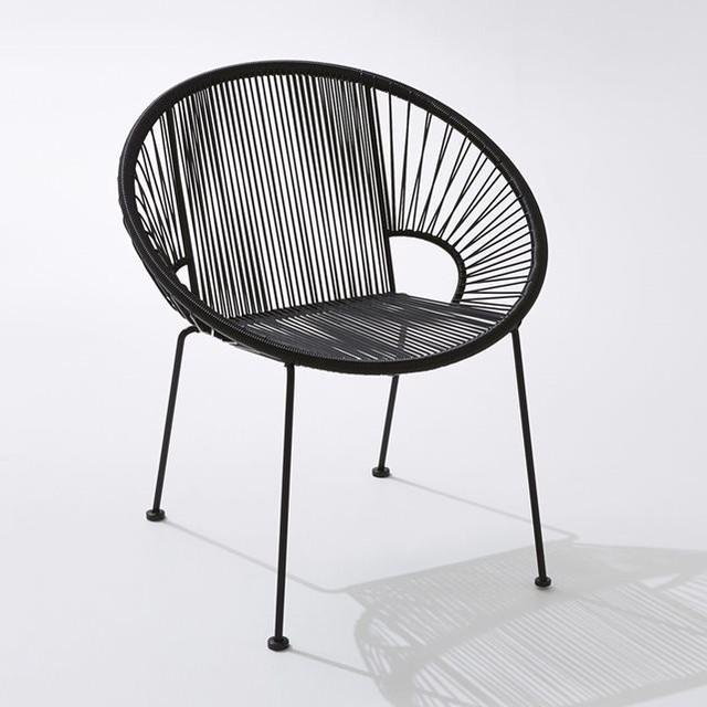 fauteuil de jardin fils de r sine tress s joalie contemporain chaise de jardin par la. Black Bedroom Furniture Sets. Home Design Ideas