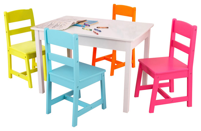 5 piece kids table and chairs set contemporary kids
