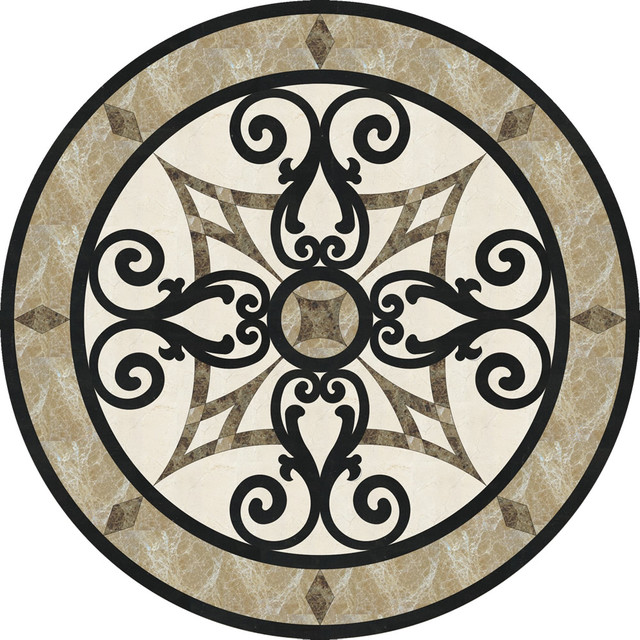 Circular Marble Inlay Flooring : Quot stone floor medallion waterjet cut marble and granite