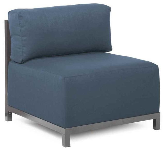 Blue Armless Accent Chair Armless Chair In Blue Armchairs And Accent Chairs  By Shopladder