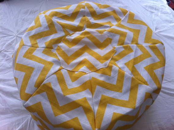 Chevron Pouf Moroccan Pouf By Arbor Road - Contemporary - Floor Pillows And Poufs - by Etsy