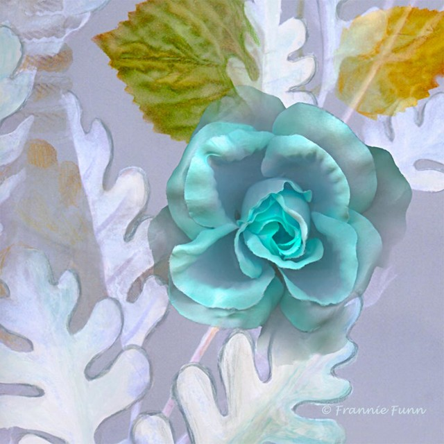 blue rose floral wall mural contemporary wallpaper