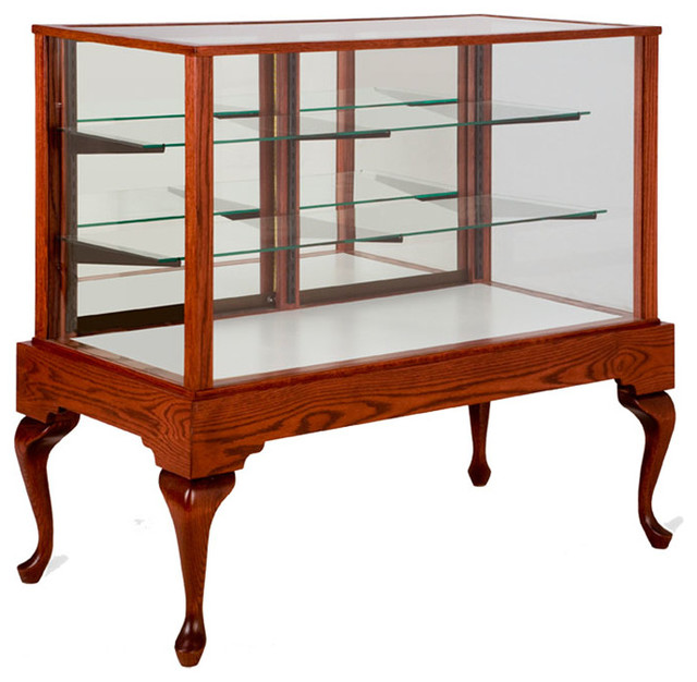 Queen Anne Full Vision Display Case - Contemporary - Display And Wall Shelves - kansas city - by ...