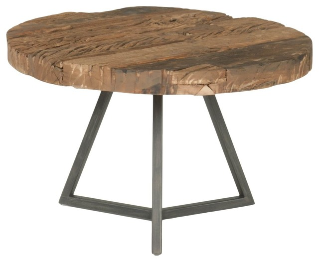 Timber Small Round Coffee Table Rustic Coffee Tables By Orient