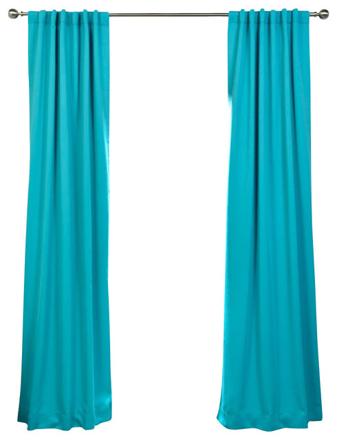 Half price drapes turquoise doublewide curtain panel - Panel Blue 50 X 120 Traditional Curtains By Half Price Drapes